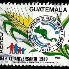 Selos: GUATEMALA SCOTT: C837-(1990) (CORREO AEREO) (INSTITUTO DE NUTRICION DE CENTROAMERICA) USADO. Lote 189707500