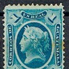 Sellos: GUATEMALA Nº 9 (AÑO 1875), LIBERTAD, NUEVO SIN GOMA. Lote 192080575