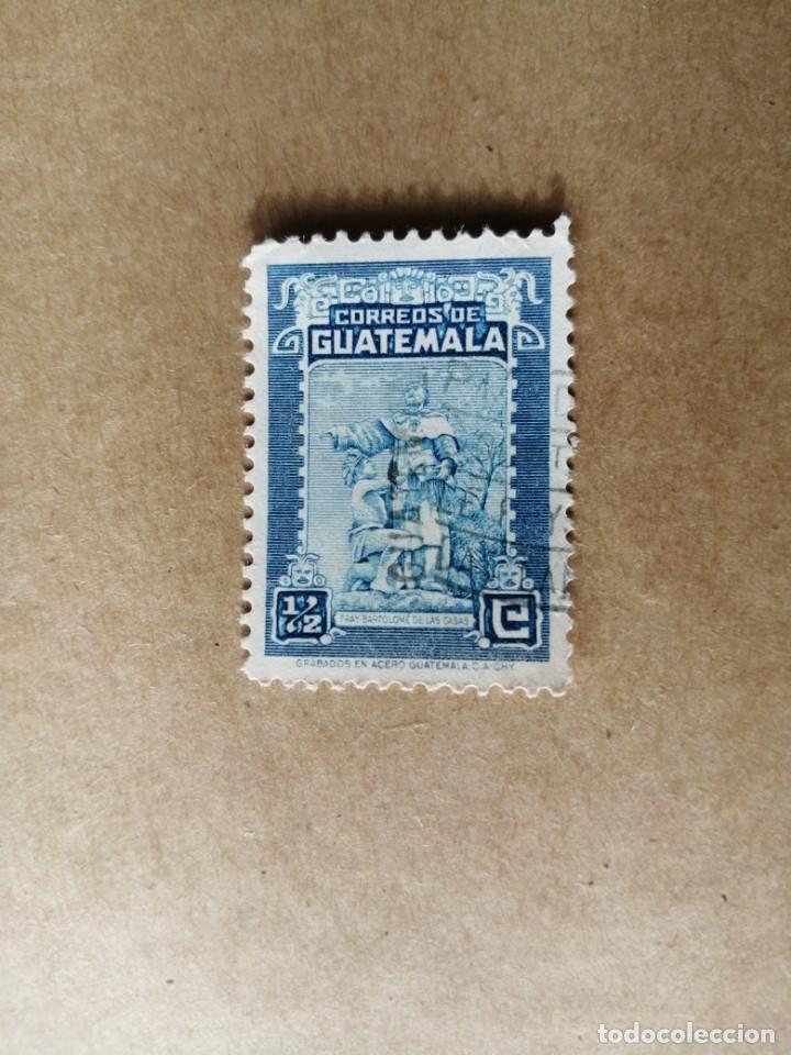 GUATEMALA - VALOR FACIAL 1/2 - GRABADOS EN ACERO - FRAY BARTOLOMÉ DE LAS CASAS (Sellos - Extranjero - América - Guatemala)