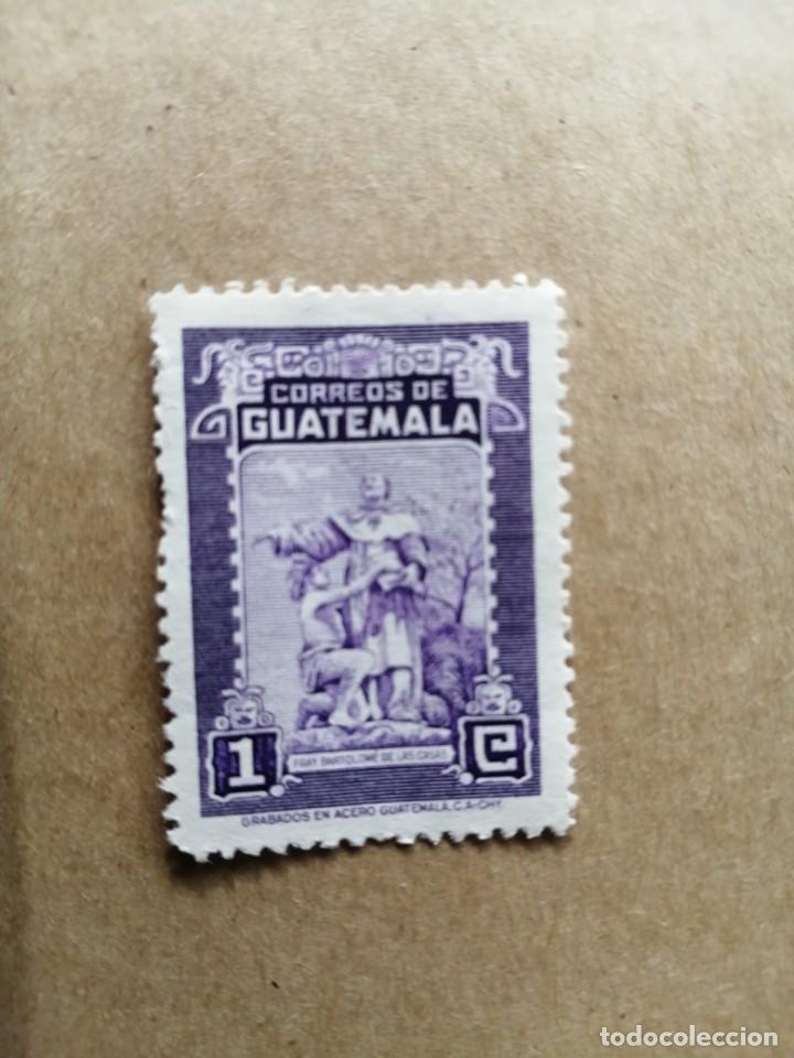 GUATEMALA - VALOR FACIAL 1 - GRABADOS EN ACERO - FRAY BARTOLOMÉ DE LAS CASAS (Sellos - Extranjero - América - Guatemala)