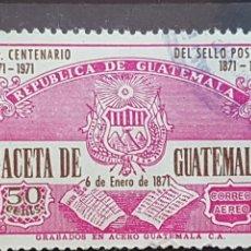 Sellos: GUATEMALA_SELLO USADO_PERIODICO GACETA DE GUATEMALA_MI-GT 1050 AÑO 1976 LOTE 4725. Lote 193665742