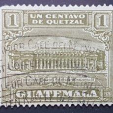 Sellos: GUATEMALA_SELLO USADO_EDIFICIO CORREOS TELEGRAFOS_YT-GT 227 AÑO 1927 LOTE 4749. Lote 193666025