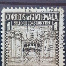 Selos: GUATEMALA_SELLO USADO_ARCO EDIFICIO COMUNICACIONES_MI-GT Z16I AÑO 1942 LOTE 4756. Lote 193666947