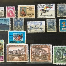 Sellos: SELLOS GUATEMALA, LOTE DE 15 SELLOS USADOS DIFERENTES. Lote 202385125
