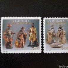 Selos: GUATEMALA YVERT 581/2 SERIE COMPLETA NUEVA ***. NAVIDAD. FIGURAS DE BELÉN. REYES MAGOS. Lote 207011017
