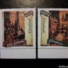 Selos: GUATEMALA YVERT 700/1 SERIE COMPLETA NUEVA ***. NAVIDAD. REYES MAGOS. Lote 207011472