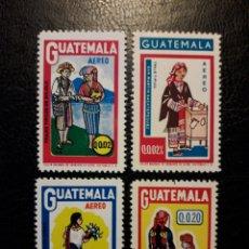 Francobolli: GUATEMALA YVERT A-552/5 SERIE COMPLETA SIN GOMA. TRAJES TÍPICOS. Lote 208967502