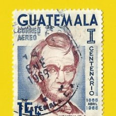 Sellos: GUATEMALA. 1965. ABRAHAM LINCOLN. Lote 210141480