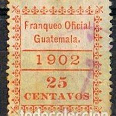 Sellos: GUATEMALA, OFICIAL AÑO 1902, 2 CENTAVOS, USADO. Lote 210660079