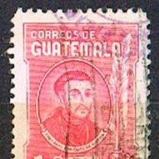 Sellos: GUATEMALA Nº 581, ARZOBISPO PAYO ENRÍQUEZ DE RIVERA, NACIDO EN AVILA EN EL DIGLO XVII, USADO. Lote 210660905
