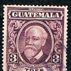Sellos: GUATEMALA Nº 275, LORENZO MONTUFAR, POLITICO, USADO. Lote 210661575