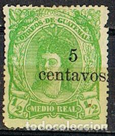 GUATEMALA Nº 18 (AÑO 1881), INDIGENA, SOBRECARGADO NUEVO VALOR, USADO SIN MATASELLAR (Sellos - Extranjero - América - Guatemala)