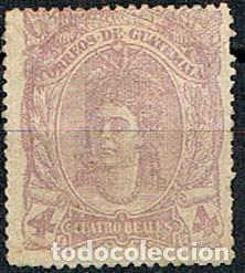 GUATEMALA Nº 13, INDIGENA, NUEVO CON SEÑAL DE CHARNELA (Sellos - Extranjero - América - Guatemala)