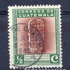 Sellos: GUATEMALA, USADOS, CALENDARIO MAYA. Lote 219608131