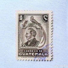 Sellos: ANTIGUO SELLO POSTAL GUATEMALA 1946, 1/2 CENTAVO, JOSE BATRES MONTUFAR, USADO. Lote 225722140