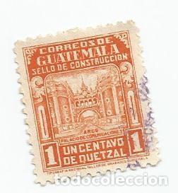 Sellos: LOTE DE 2 SELLOS USADOS DE GUATEMALA DE 1945-SELLO DE CONSTRUCCION- YVERT 323- VALOR 1 CENTAVO - Foto 2 - 230085015