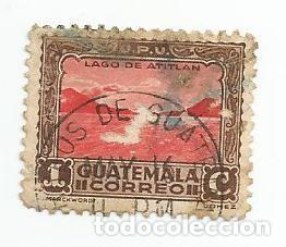 SELLO USADO DE GUATEMALA DE 1935-LAGO ATLITAN- YVERT 274- VALOR 1 CENTAVO (Sellos - Extranjero - América - Guatemala)