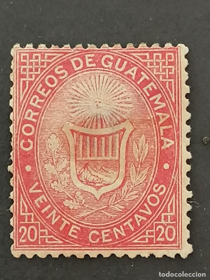 GUATEMALA, YVERT 4 (*), TRANSPARENCIA, 1871 (Sellos - Extranjero - América - Guatemala)