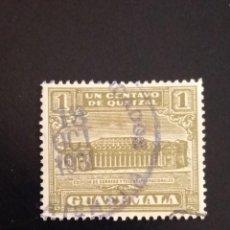 Sellos: GUATEMALA 1 CENTAVO, CORREOS Y TELEGRAFOS AÑO 1920 USADO.. Lote 245457195