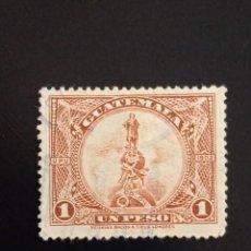 Sellos: GUATEMALA 1 PESO, COLON AÑO 1902 USADO.. Lote 245457715