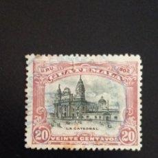 Sellos: GUATEMALA 20 CENTAVOS, LA CATEDRAL AÑO 1902 USADO.. Lote 245458505