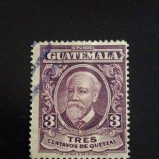 Sellos: GUATEMALA 3 CENTAVOS, LORENZO MONTUFAR, AÑO 1926 USADO.. Lote 245463135