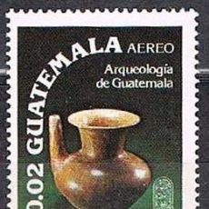 Sellos: GUATEMALA 1196, ARQUEOLOGIA, CULTURA TIKAL. JARRA. 50-100 DC, NUEVO ***. Lote 263184345