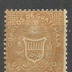 Sellos: GUATEMALA YVERT NUM. 1 * NUEVO CON FIJASELLOS. Lote 267113254