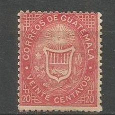 Sellos: GUATEMALA YVERT NUM. 4 * NUEVO CON FIJASELLOS. Lote 267113419