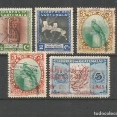 Sellos: GUATEMALA YVERT NUM. 299/303 SERIE COMPLETA USADA. Lote 267116769