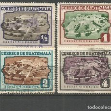 Sellos: GUATEMALA YVERT NUM. 351/354 SERIE COMPLETA USADA. Lote 267160864