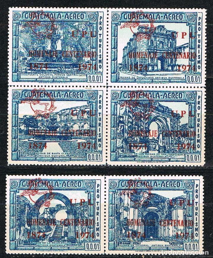 GUIATEMALA Nº 1034/9, CENTENARIO DE LA UNIÓN POSTAL UNIVERSAL, SOBRECARGA ROJA. NUEVO *** (Sellos - Extranjero - América - Guatemala)