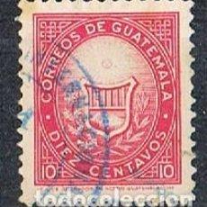 Sellos: GUATEMANA 742, ESCUDO NACIONAL, USADO. Lote 268144519