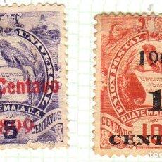 Timbres: AMÉRICA. GUATEMALA. EMBLEMA NACIONAL. YT 103,104 USADOS CON CHARNELA. Lote 273056998