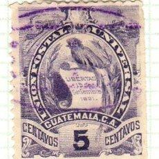 Timbres: AMÉRICA. GUATEMALA. EMBLEMA NACIONAL. YT 34 USADOS CON CHARNELA. Lote 273245653