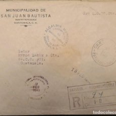 Sellos: O) 1949 GUATEMALA, FRANQUICIA, MUNICIPAL MAYOR AND COURT OF PEACE SAN JUAN BAUTISTA, REGISTERED PATU. Lote 289027228