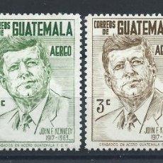 Sellos: GUATEMALA PA N°303/06* (MH) 1964 - JOHN F. KENNEDY. Lote 289535018
