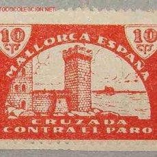 Sellos: VIÑETA CRUZADA CONTRA EL PARO, MALLORCA, ESPAÑA. Lote 3103614
