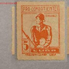 Sellos: VIÑETA PRO-COMBATIENTES, LUGO. Lote 1800666