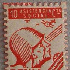 Sellos: VIÑETA ASISTENCIA SOCIAL, DENIA. Lote 2126244