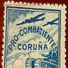 Sellos: PRO COMBATIENTES CORUÑA, 10 CTMS. Lote 4044296