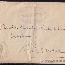 Sellos: ESPAÑA.1938.SOBRE CON FRANQUICIAS MILITARES REGIMIENTO DE INFANTERIA PAVIA Nº7/MANDO/5º BATALLON. RR. Lote 26609267