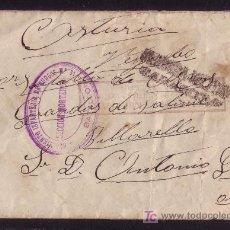 Sellos: ESPAÑA.1938.SOBRE D BURGOS A ASTURIAS.DOS MARCAS DE REGIMIENTO INFANTERIA Y CENSURA ZARAGOZA.M.RARA.. Lote 27188718