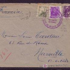 Sellos: ESPAÑA.(CAT. 817,842,858). 1939. SOBRE DE SAN SEBASTIAN A FRANCIA. MUY RARO EL 20 CTS. EN CARTA.. Lote 25171475