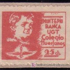 Sellos: ESPAÑA. (CAT. GUI. 1991). 25 CTS. * MONTEPIO/BANCA/UGT/COLEGIO/HUERFANOS *. MAGNÍFICO. RARO.. Lote 25523704