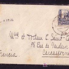 Sellos: ESPAÑA.(CAT.827).1939.SOBRE DE OVIEDO A FRANCIA.70C. ETIQUETA DE CIERRE *CENSURA MILITAR DE OVIEDO*.. Lote 21938213