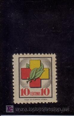 FRENTE Y HOSPITALES. 10 CTS. (Sellos - España - Guerra Civil - Beneficencia)