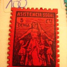 Sellos: SELLO ASISTENCIA SOCIAL, DENIA, 5 CTS. Lote 4613938