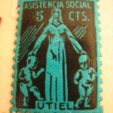 Sellos: SELLO ASISTENCIA SOCIAL, UTIEL, 5 CTS. Lote 4613944