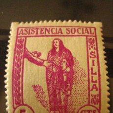 Sellos: SELLO ASISTENCIA SOCIAL, SILLA, 5 CTS. Lote 4618499